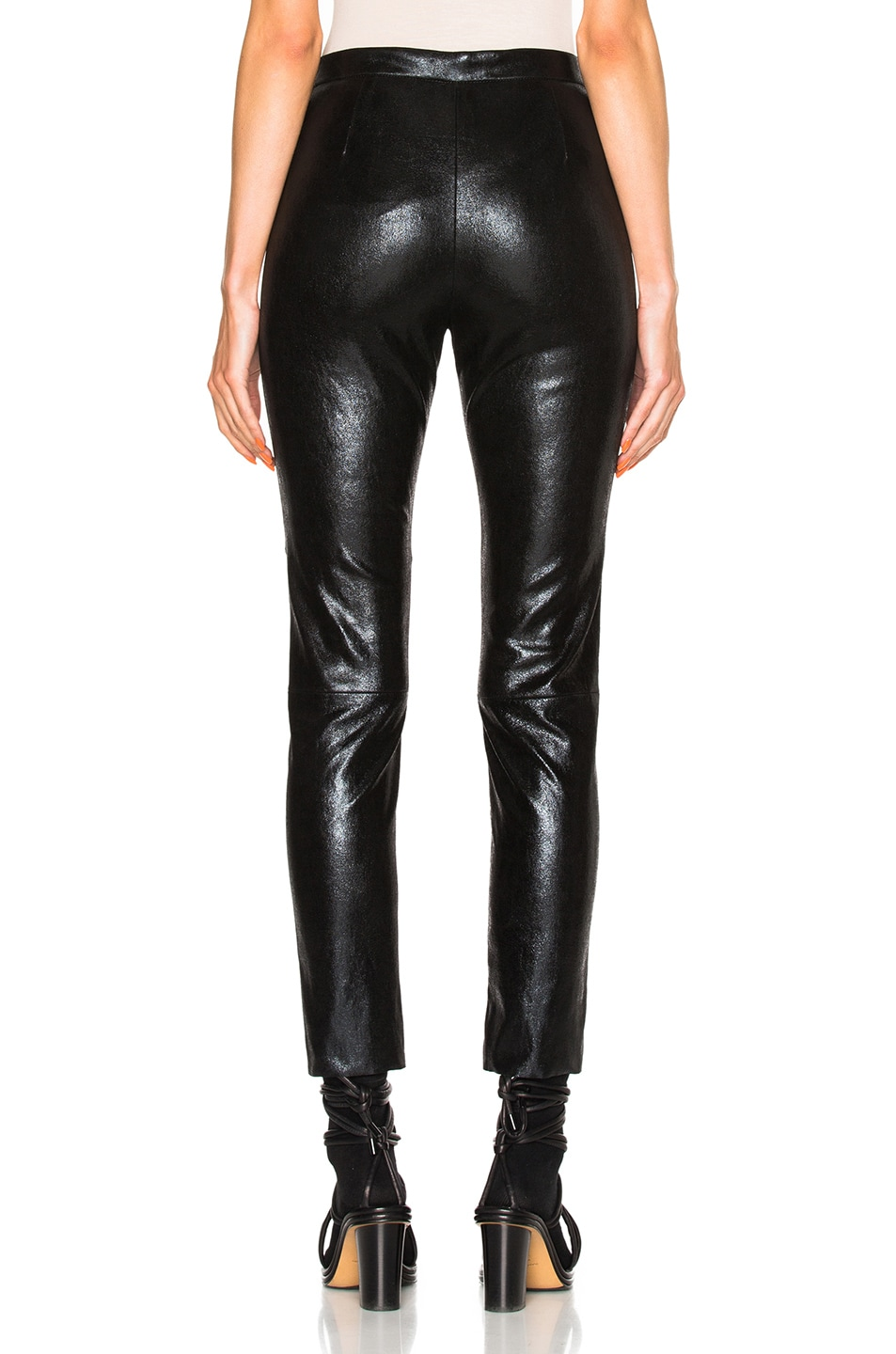 Image 4 of Isabel Marant Arnold Stretch Leather Pants in Black