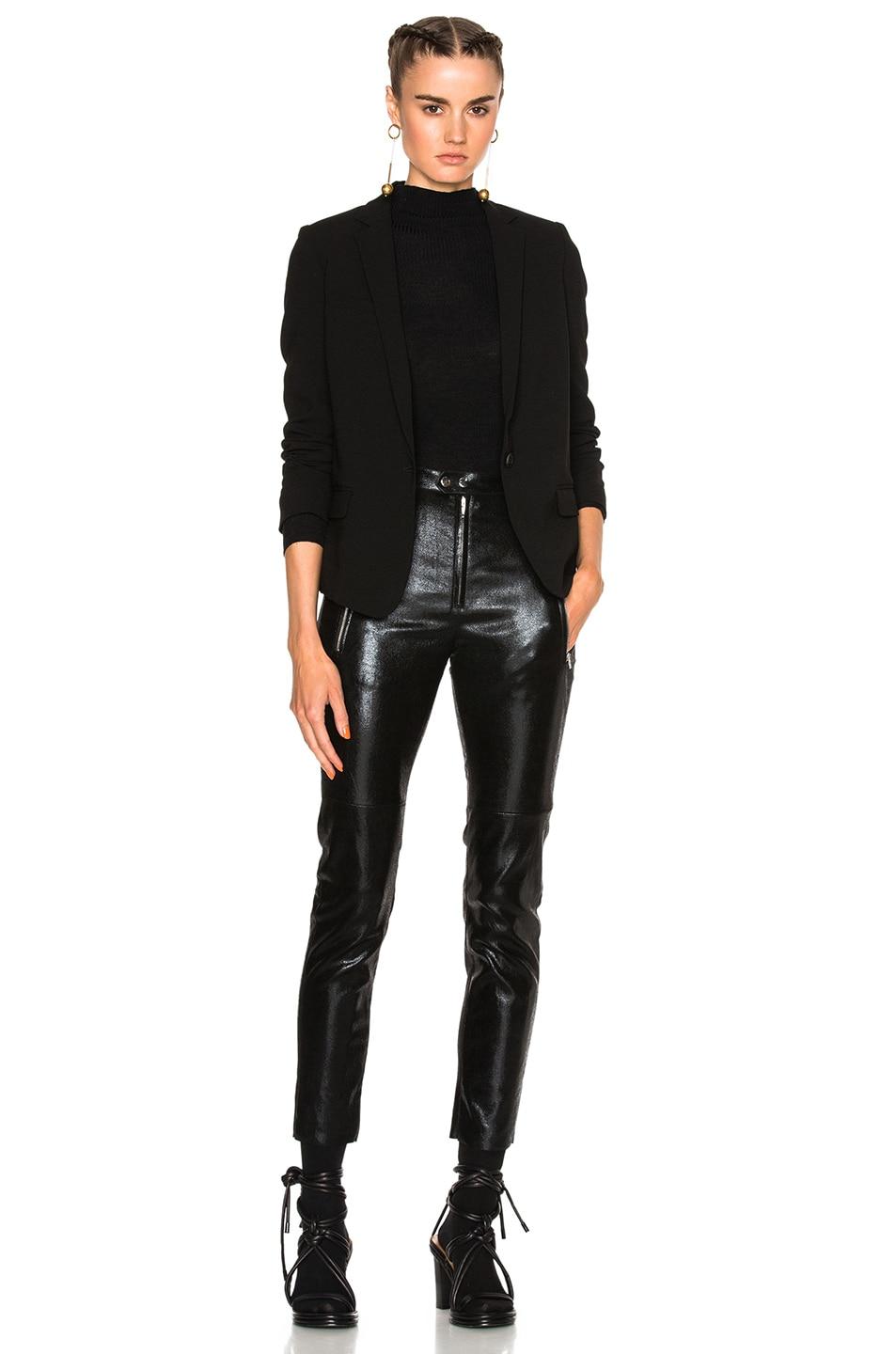 Image 6 of Isabel Marant Arnold Stretch Leather Pants in Black