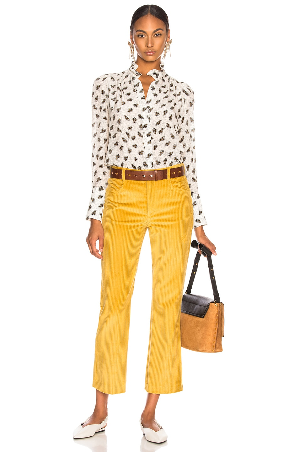 Image 4 of Isabel Marant Mereo Pant in Saffron