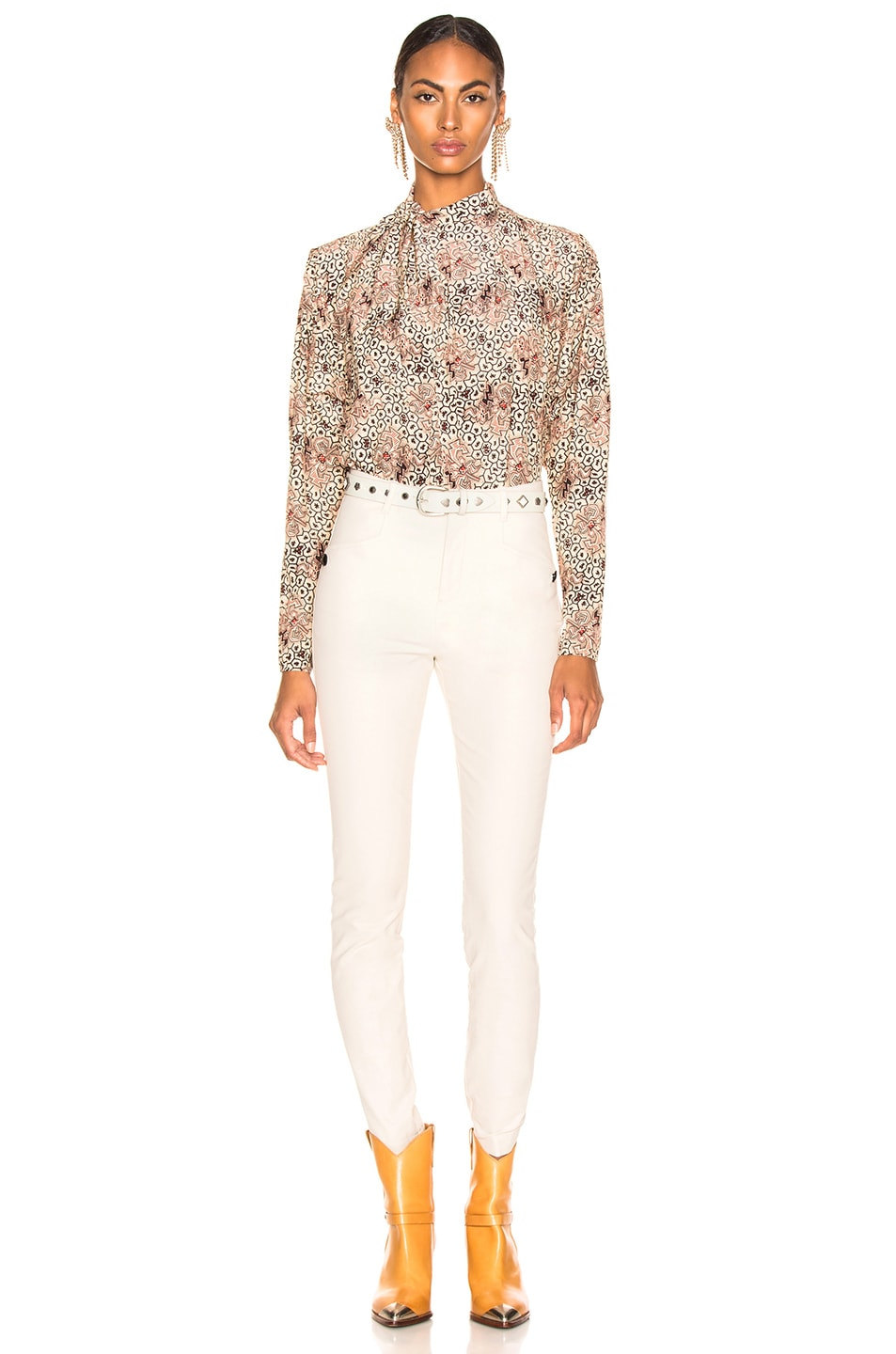 Image 4 of Isabel Marant Leonard Pant in Ecru