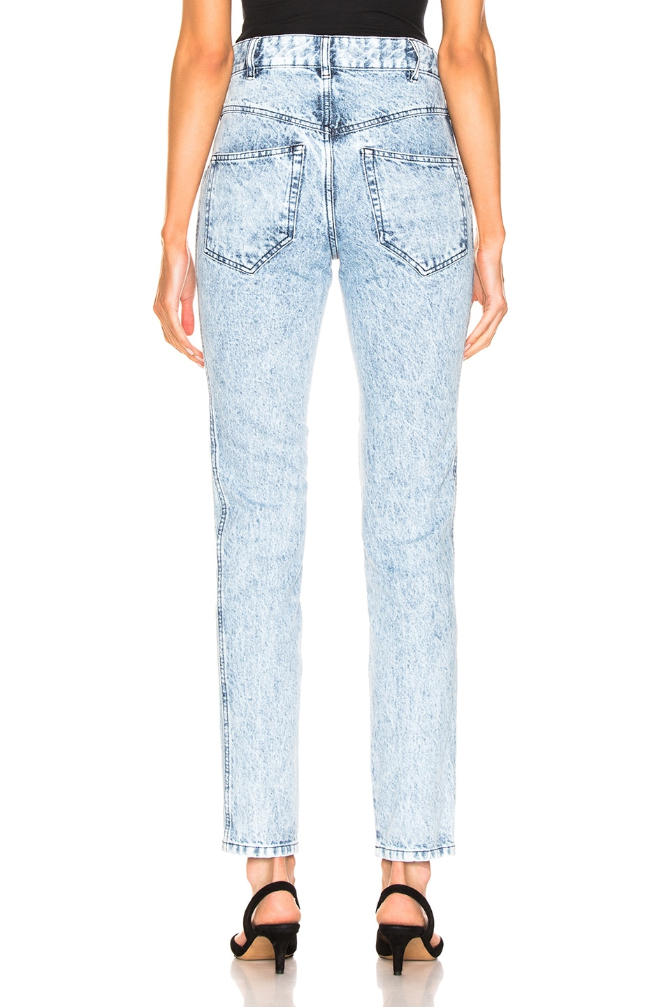 Image 3 of Isabel Marant Lorricka Pant in Snow Blue