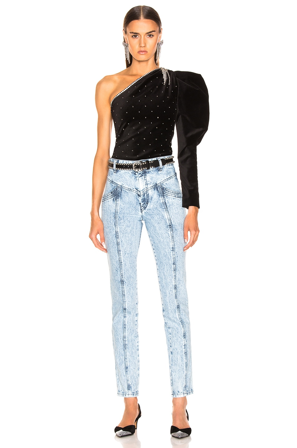 Image 4 of Isabel Marant Lorricka Pant in Snow Blue