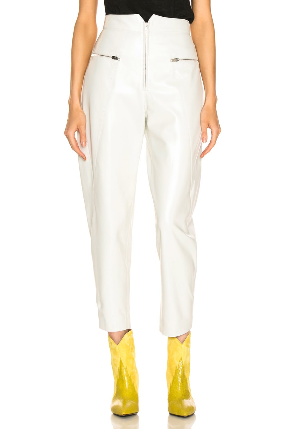 Image 1 of Isabel Marant Cyril Leather Pant in White