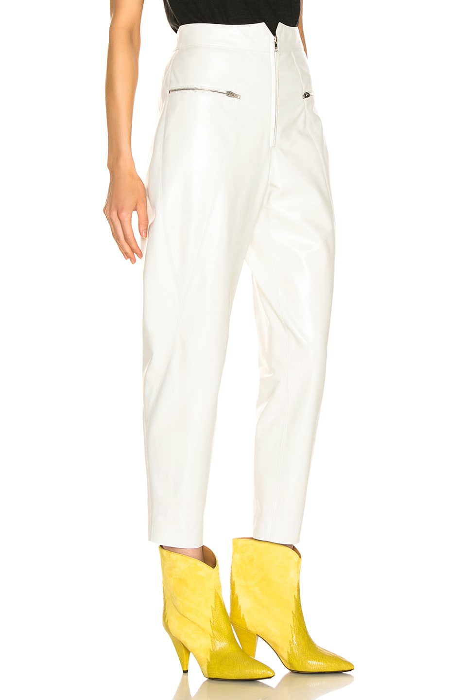 Image 2 of Isabel Marant Cyril Leather Pant in White