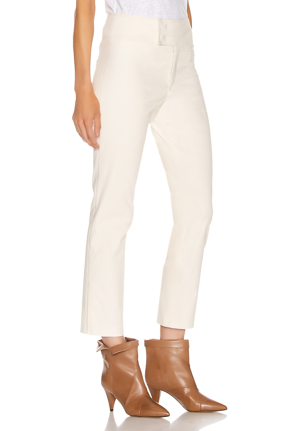Image 2 of Isabel Marant Ovida Trouser in Ecru