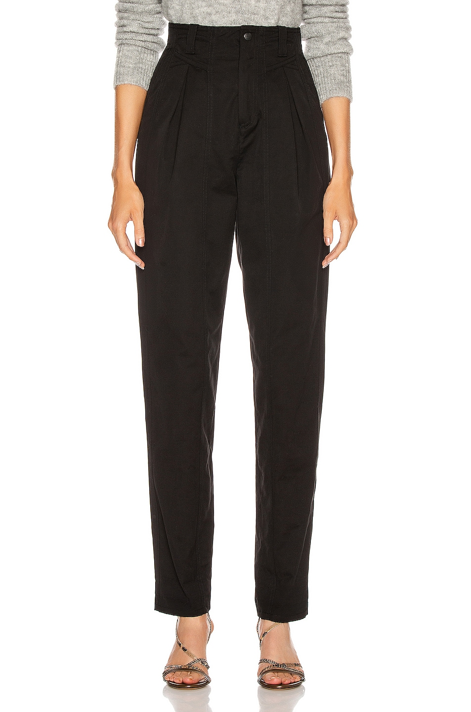 Image 1 of Isabel Marant Handy Trouser in Black