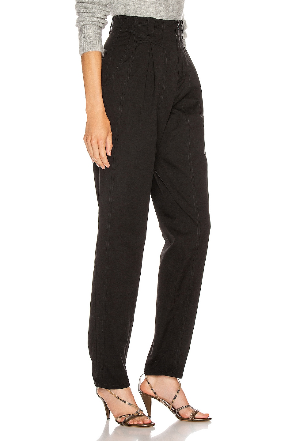 Image 2 of Isabel Marant Handy Trouser in Black