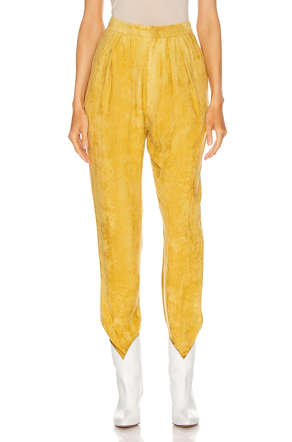 Image 1 of Isabel Marant Fany Pant in Dusty Yellow