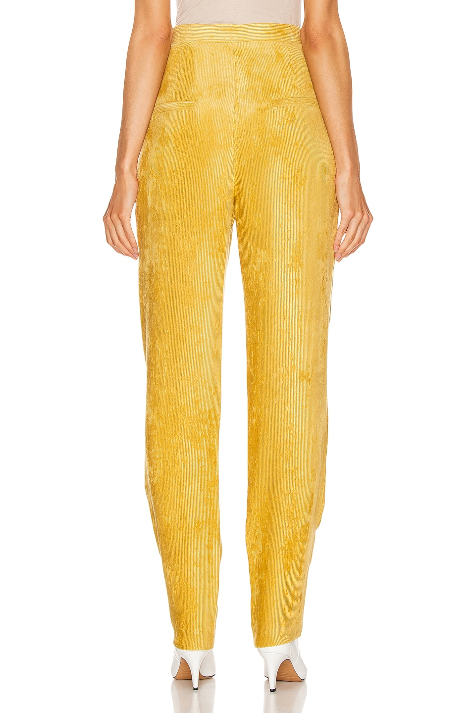 Image 3 of Isabel Marant Fany Pant in Dusty Yellow