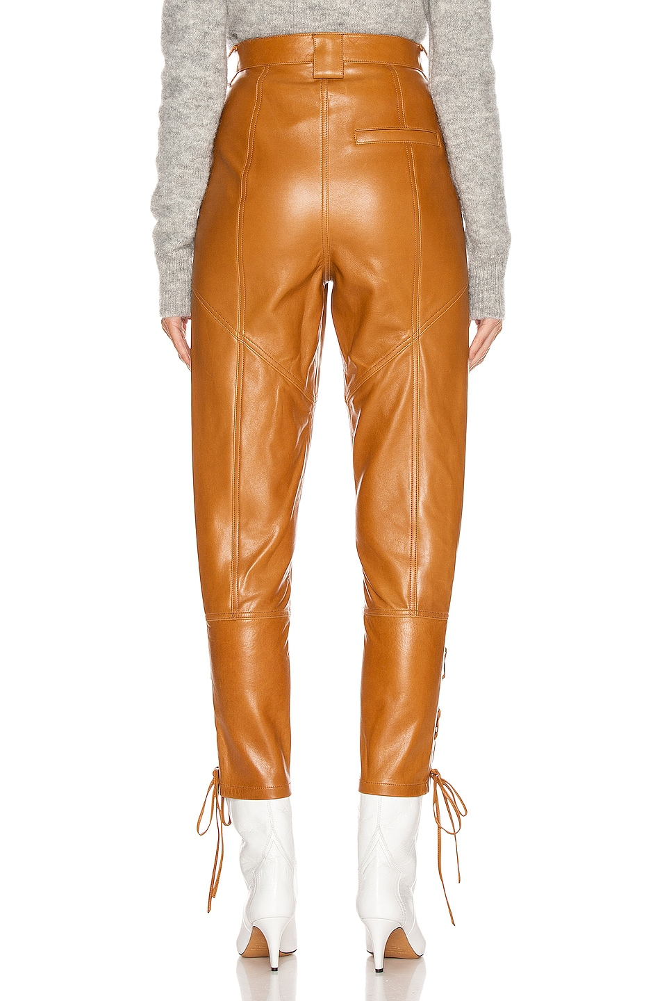 Image 3 of Isabel Marant Cadix Leather Pant in Natural