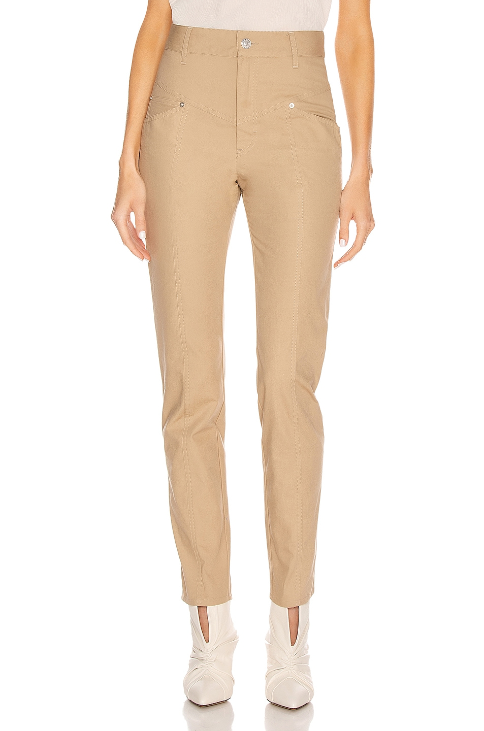 Image 1 of Isabel Marant Lorrick Pant in Camel