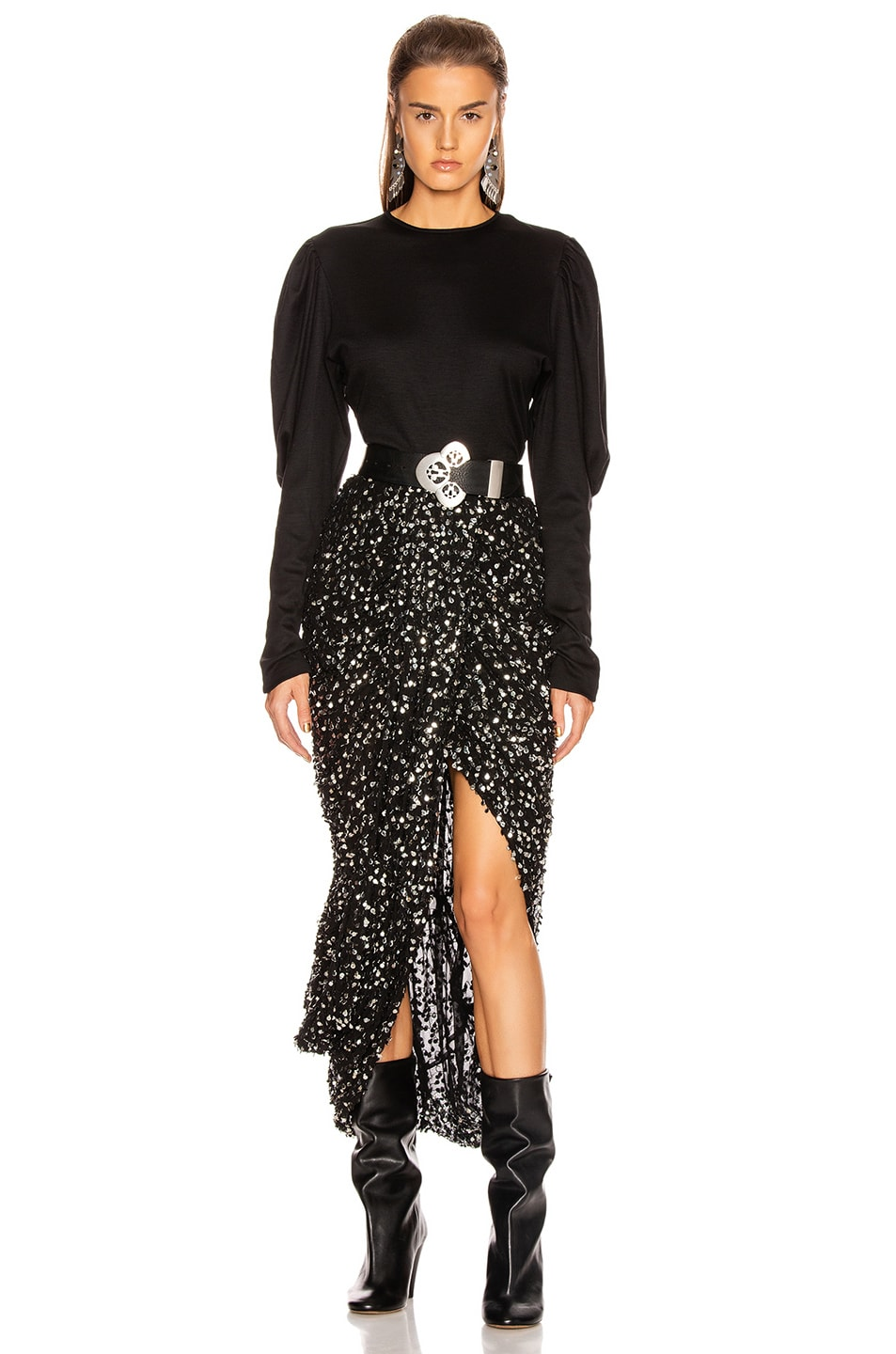 Image 4 of Isabel Marant Calliandra Skirt in Black
