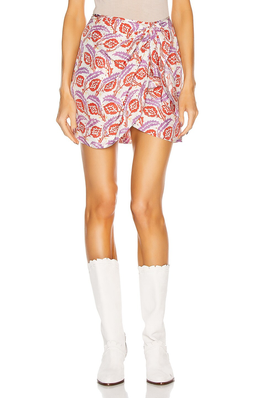 Image 1 of Isabel Marant Renzia Skirt in Poppy Orange