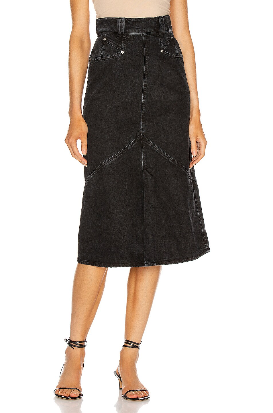 Image 1 of Isabel Marant Domano Skirt in Faded Black
