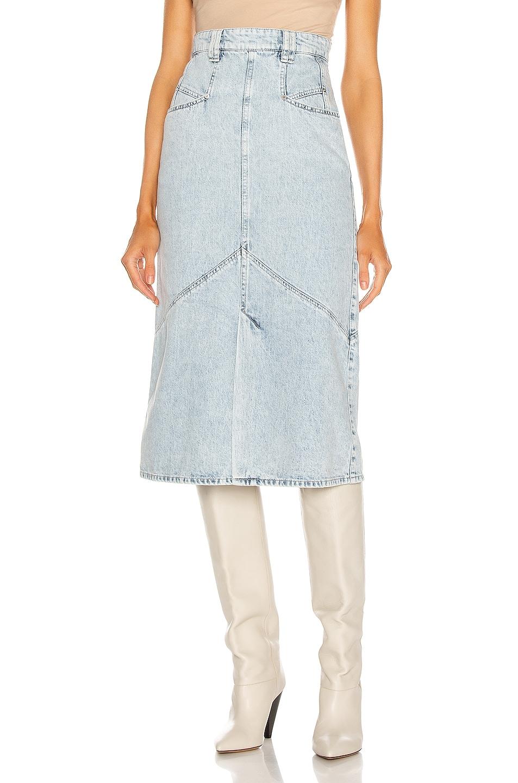 Image 1 of Isabel Marant Pomano Skirt in Light Blue