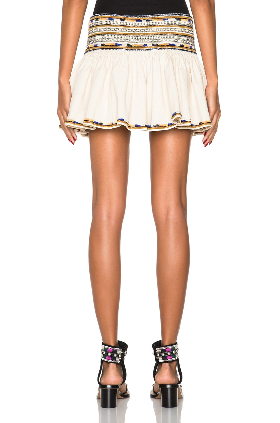 Image 4 of Isabel Marant Saxen Mini Skirt in Ecru