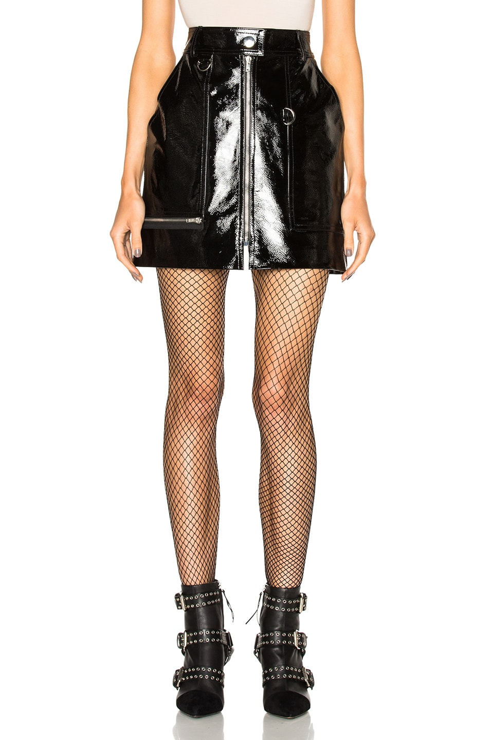 Image 1 of Isabel Marant Lynne Patent Leather Skirt in Black
