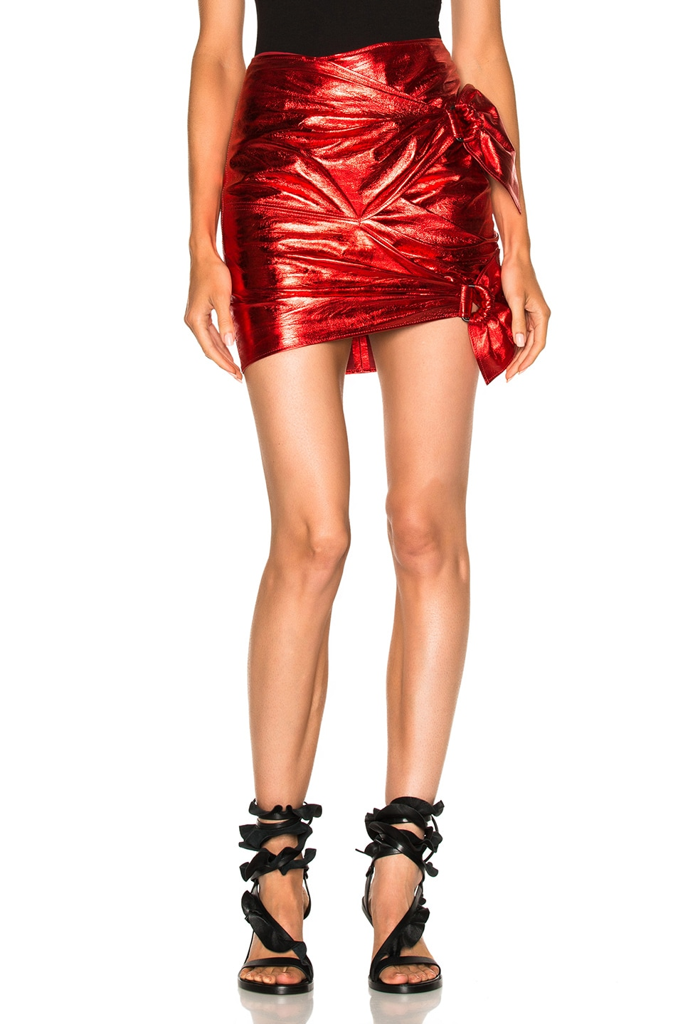 Image 1 of Isabel Marant Doll Skirt in Metal Red