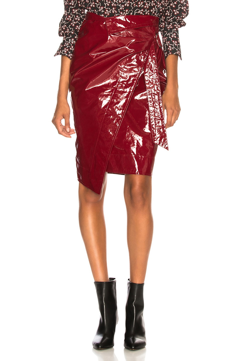 Image 1 of Isabel Marant Eoji Skirt in Burgundy