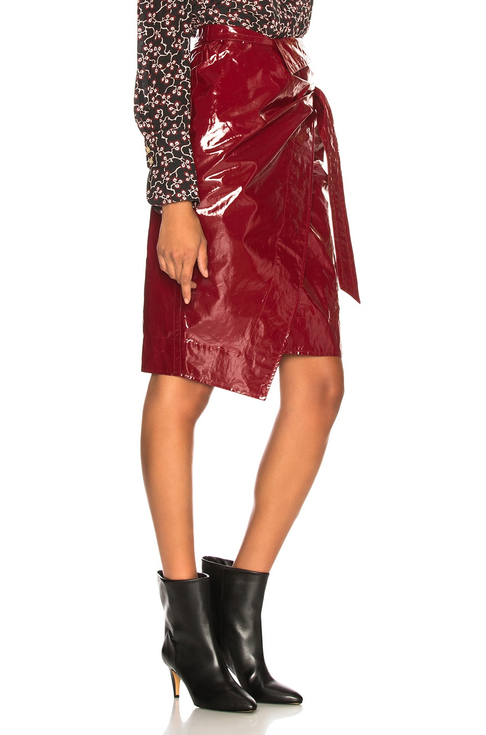 Image 2 of Isabel Marant Eoji Skirt in Burgundy