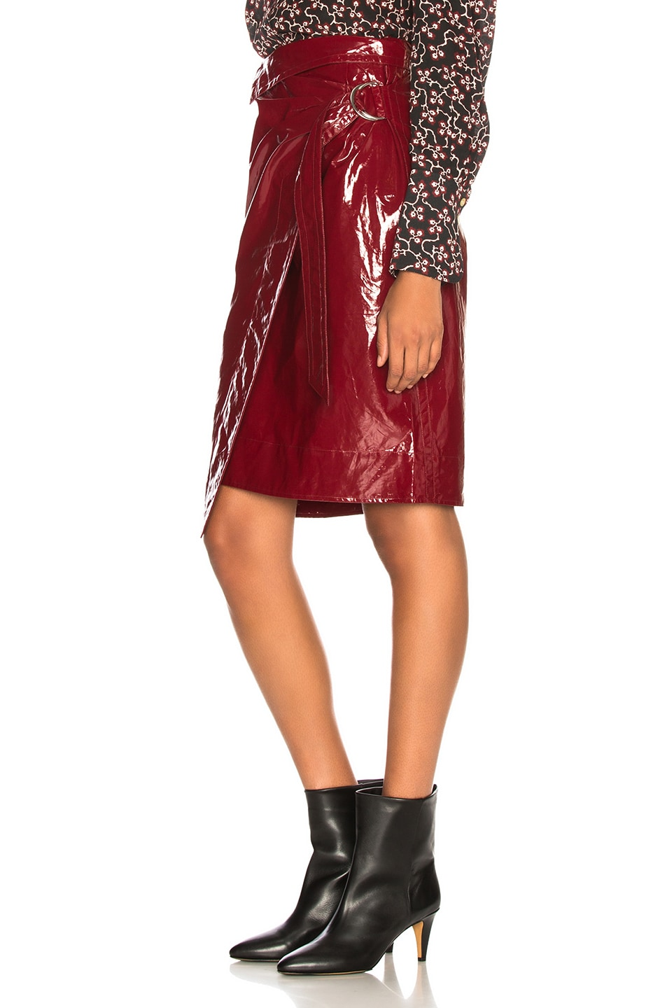 Image 3 of Isabel Marant Eoji Skirt in Burgundy