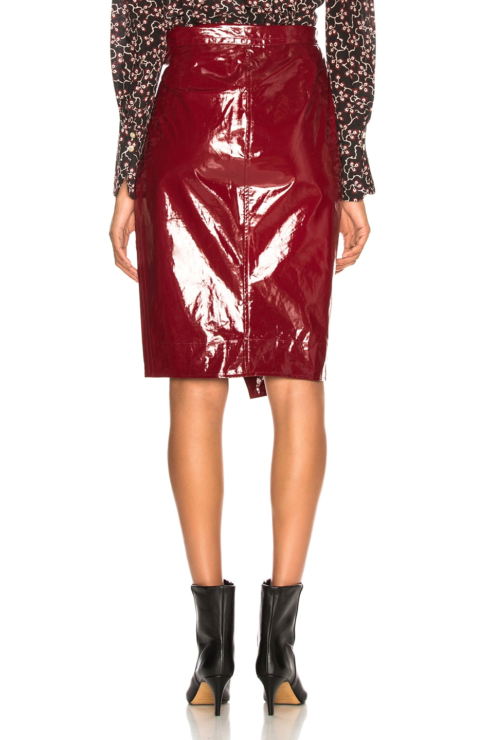 Image 4 of Isabel Marant Eoji Skirt in Burgundy