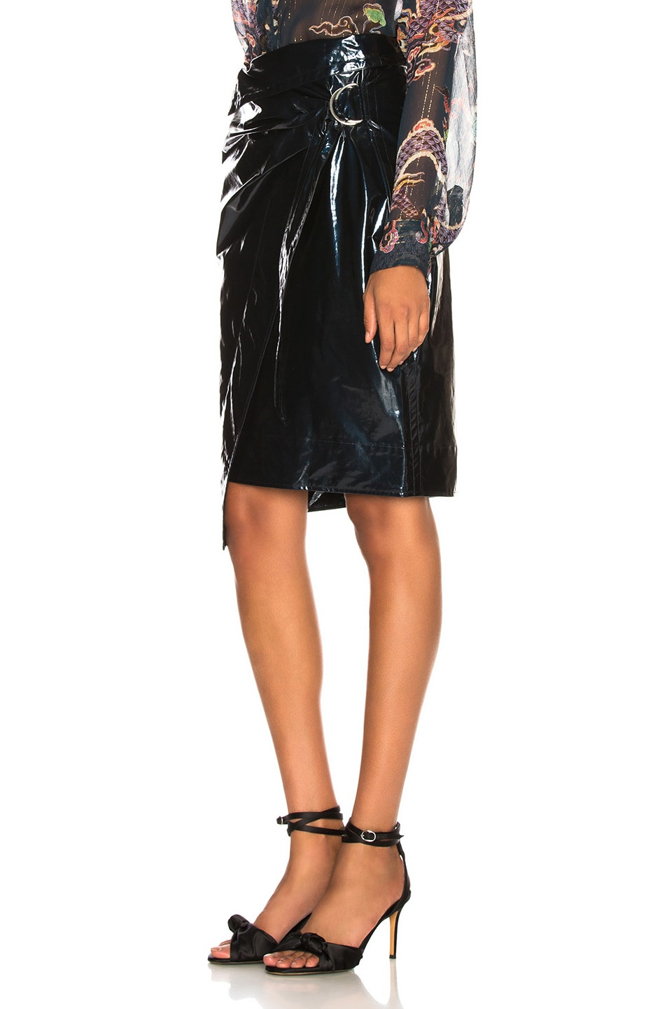 Image 3 of Isabel Marant Eoji Skirt in Midnight