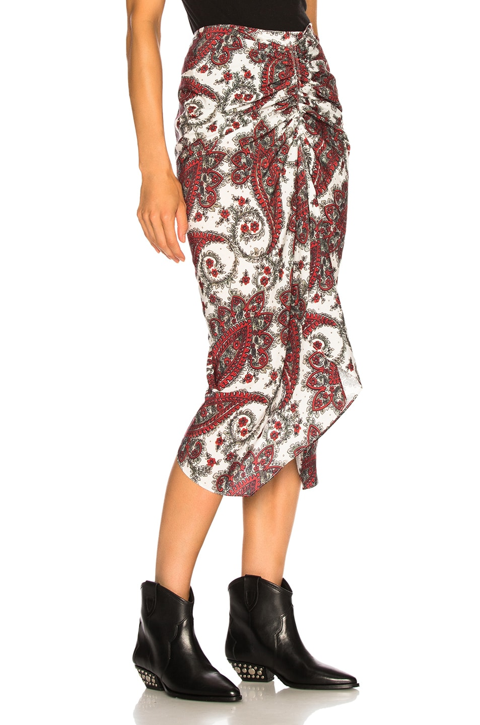Image 2 of Isabel Marant Tracy Skirt in White & Red