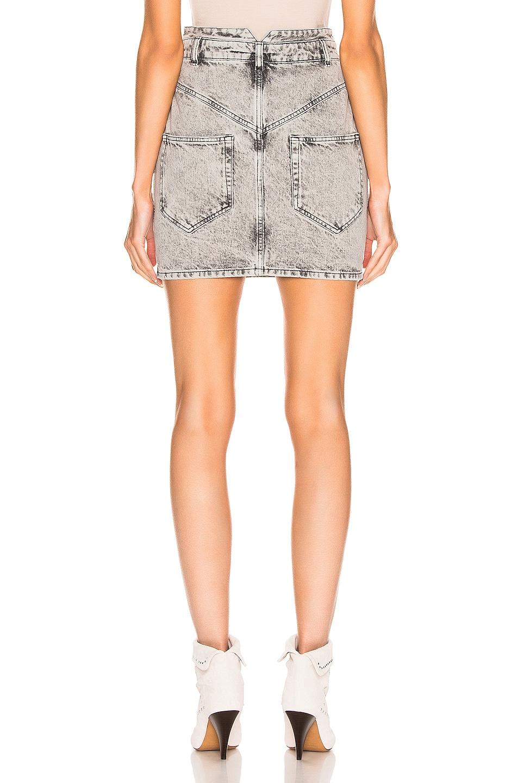 Image 3 of Isabel Marant Rosalie Skirt in Snow Grey