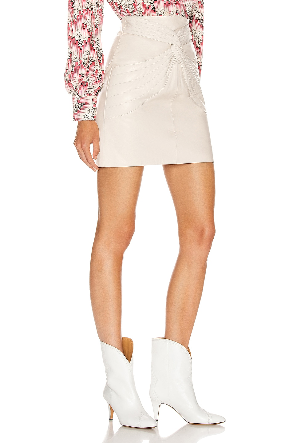 Image 2 of Isabel Marant Chaz Skirt in Chalk