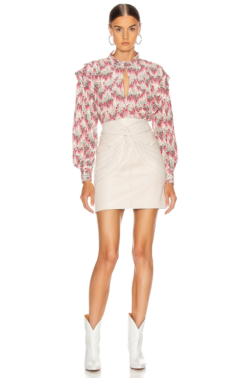Image 4 of Isabel Marant Chaz Skirt in Chalk