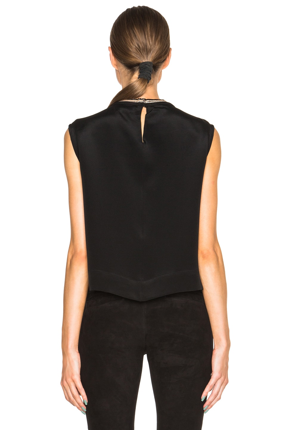 Image 4 of Isabel Marant Russ Something Ethnic Top in Black