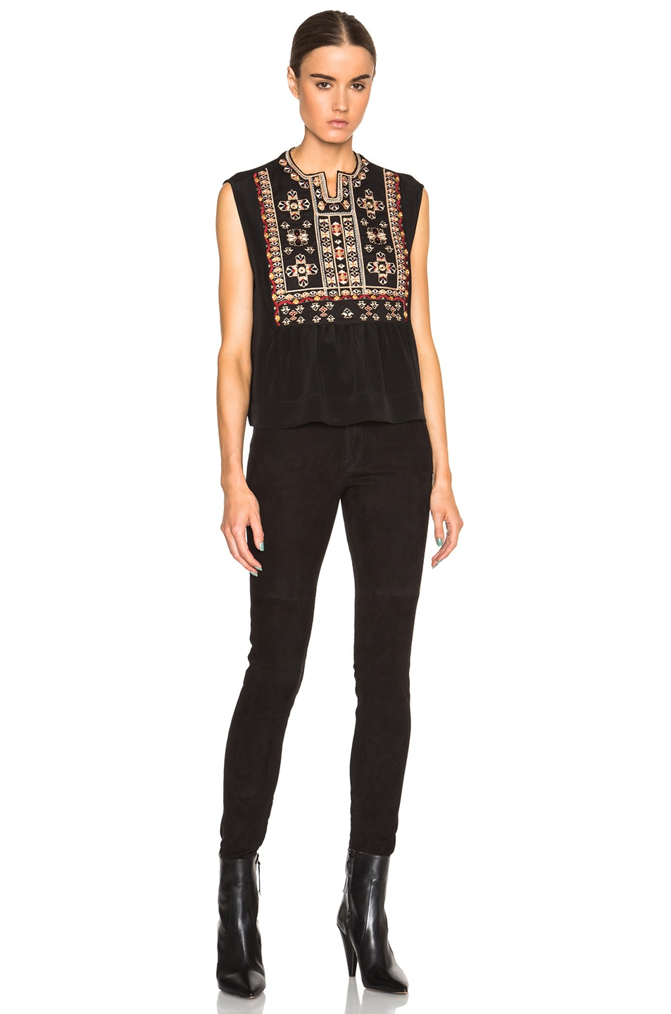 Image 5 of Isabel Marant Russ Something Ethnic Top in Black