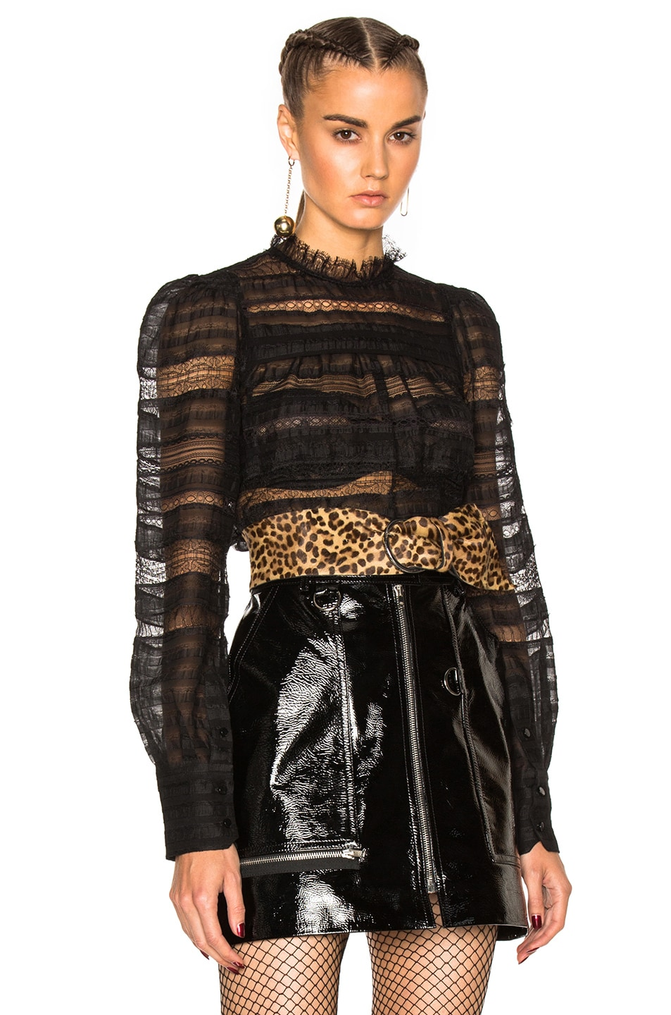 Image 1 of Isabel Marant Ronny Victorian Story Blouse in Black