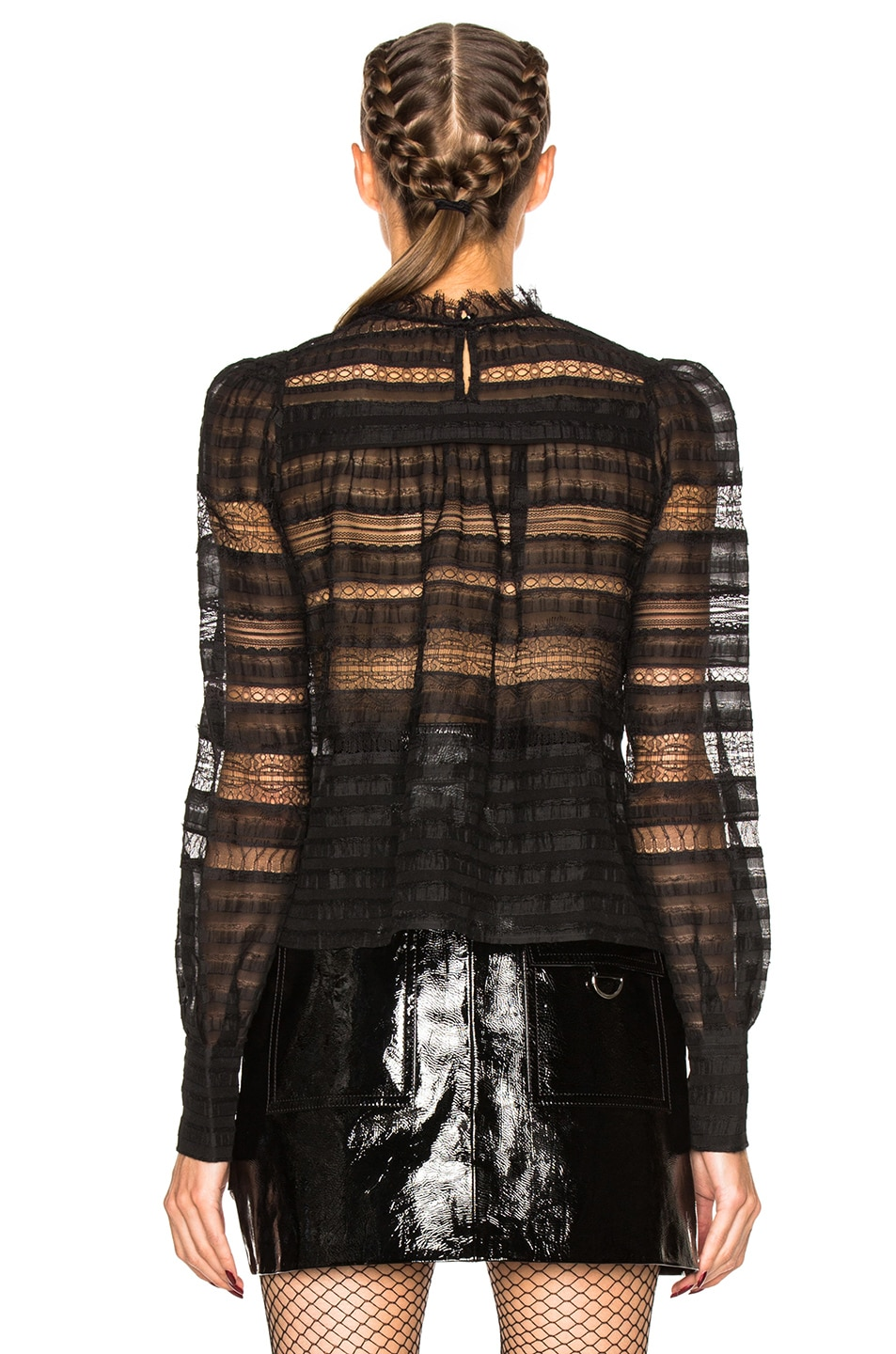 Image 4 of Isabel Marant Ronny Victorian Story Blouse in Black