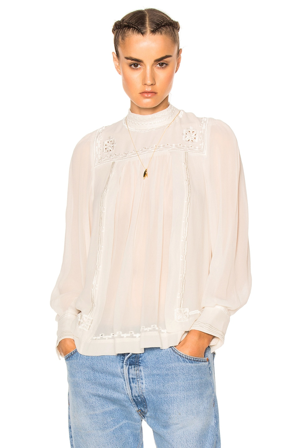 Image 1 of Isabel Marant Maeva Blouse in White
