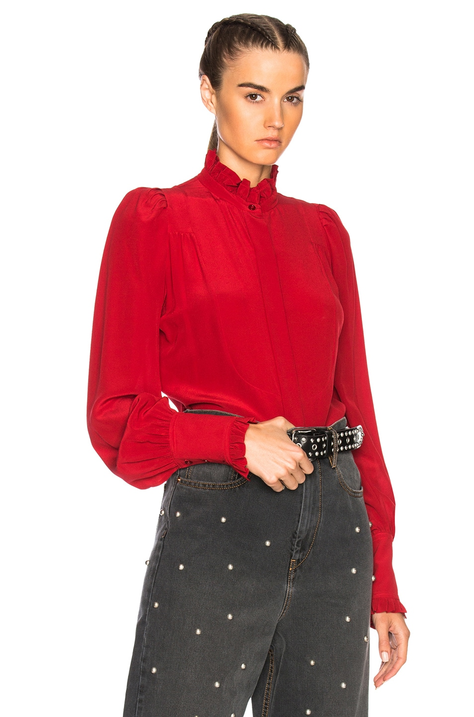 06de4ba9c98923 Image 1 of Isabel Marant Sloan Blouse in Red