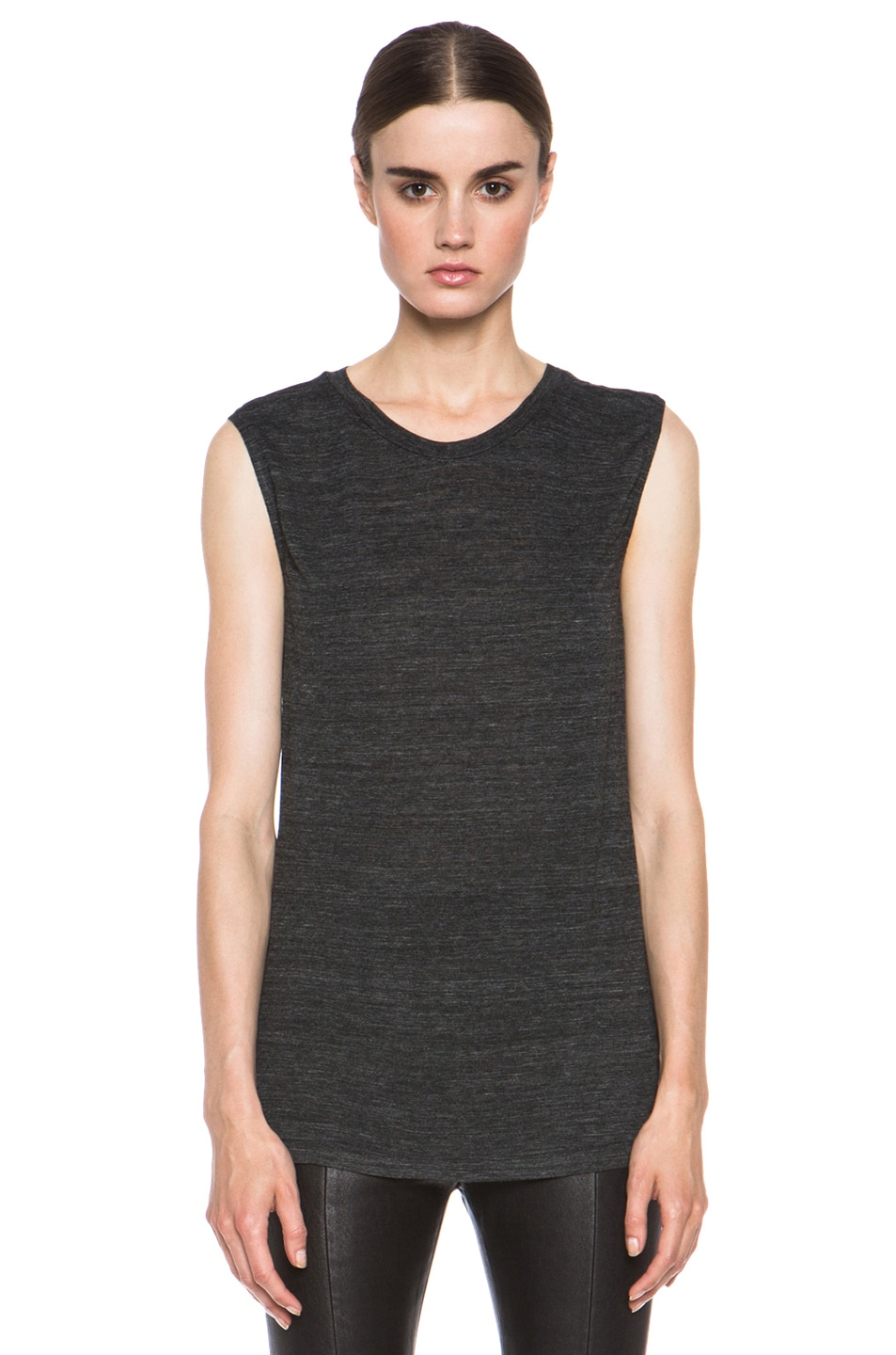 Image 1 of Isabel Marant Senna Viscose Tank in Anthracite