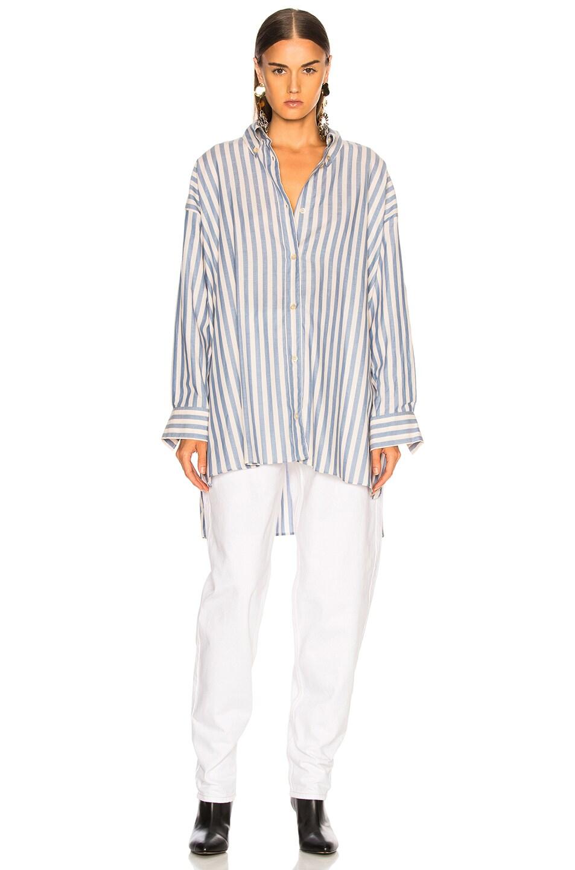 Image 2 of Isabel Marant Maca Shirt in Blue