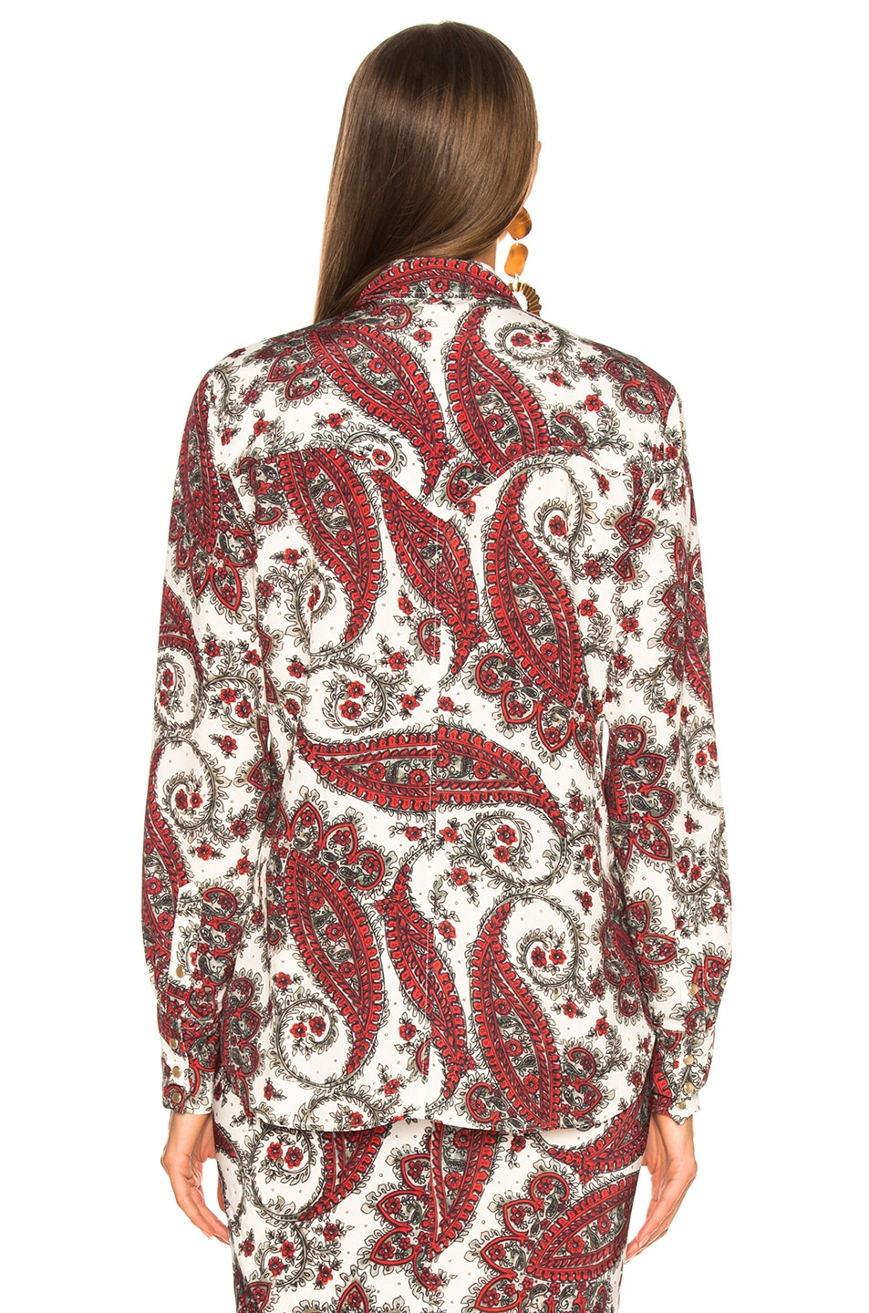 Image 4 of Isabel Marant Tania Shirt in White & Red