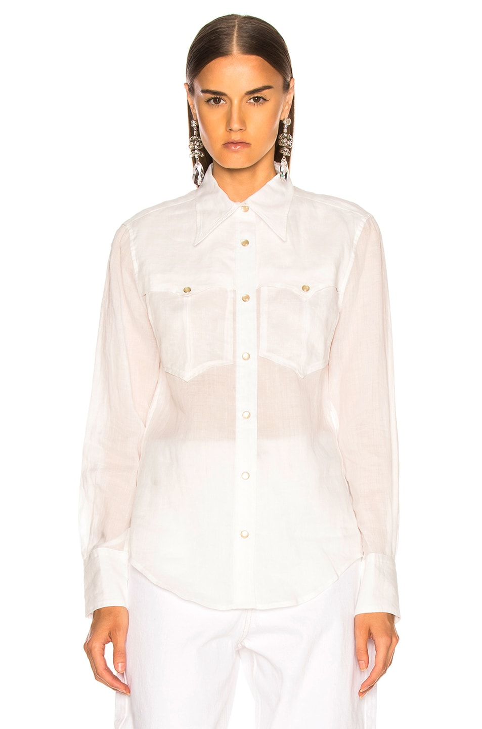 Image 2 of Isabel Marant Naria Shirt in White