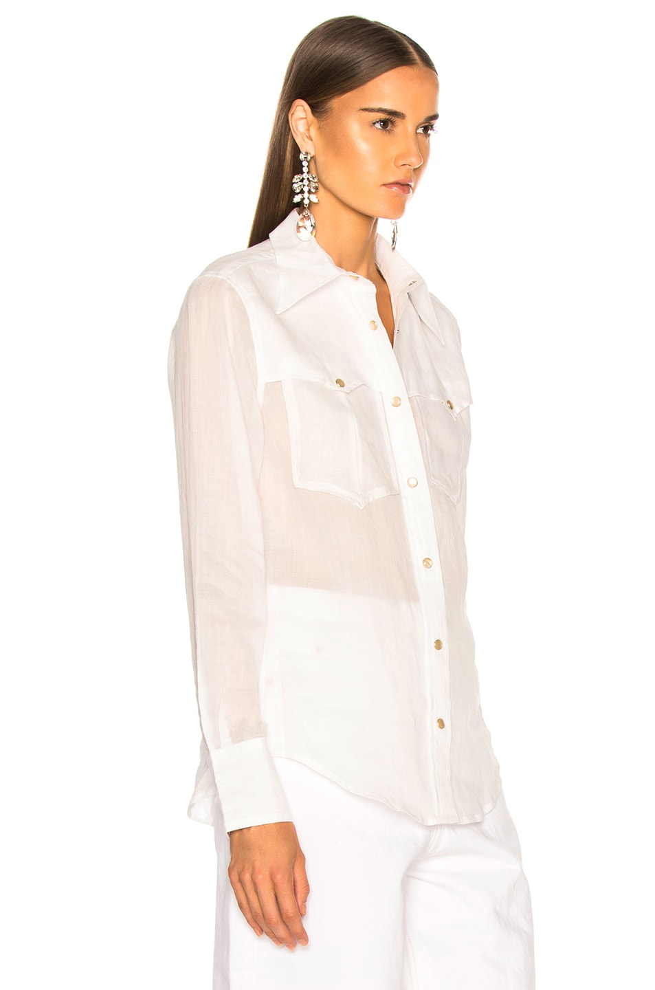 Image 3 of Isabel Marant Naria Shirt in White