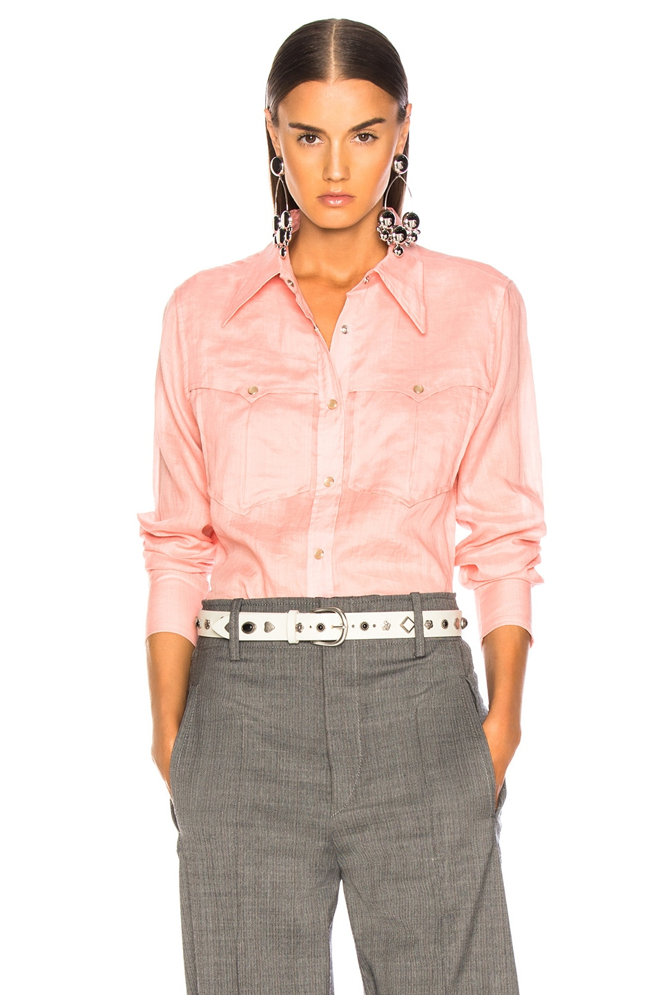 Image 1 of Isabel Marant Naria Shirt in Candy Pink