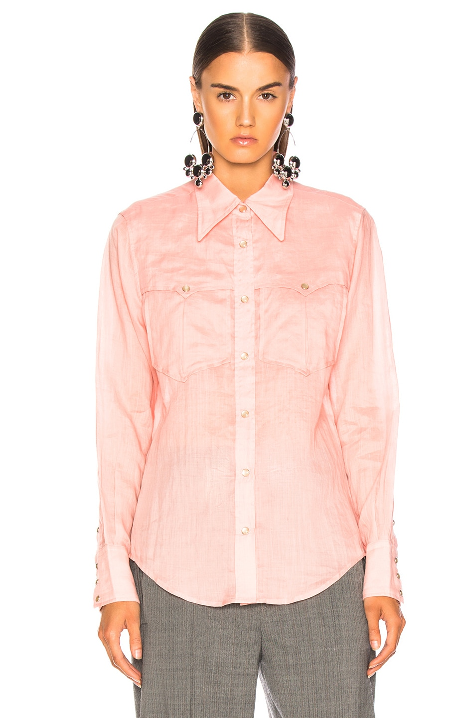 Image 2 of Isabel Marant Naria Shirt in Candy Pink