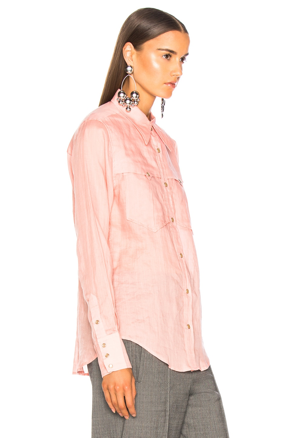 Image 3 of Isabel Marant Naria Shirt in Candy Pink