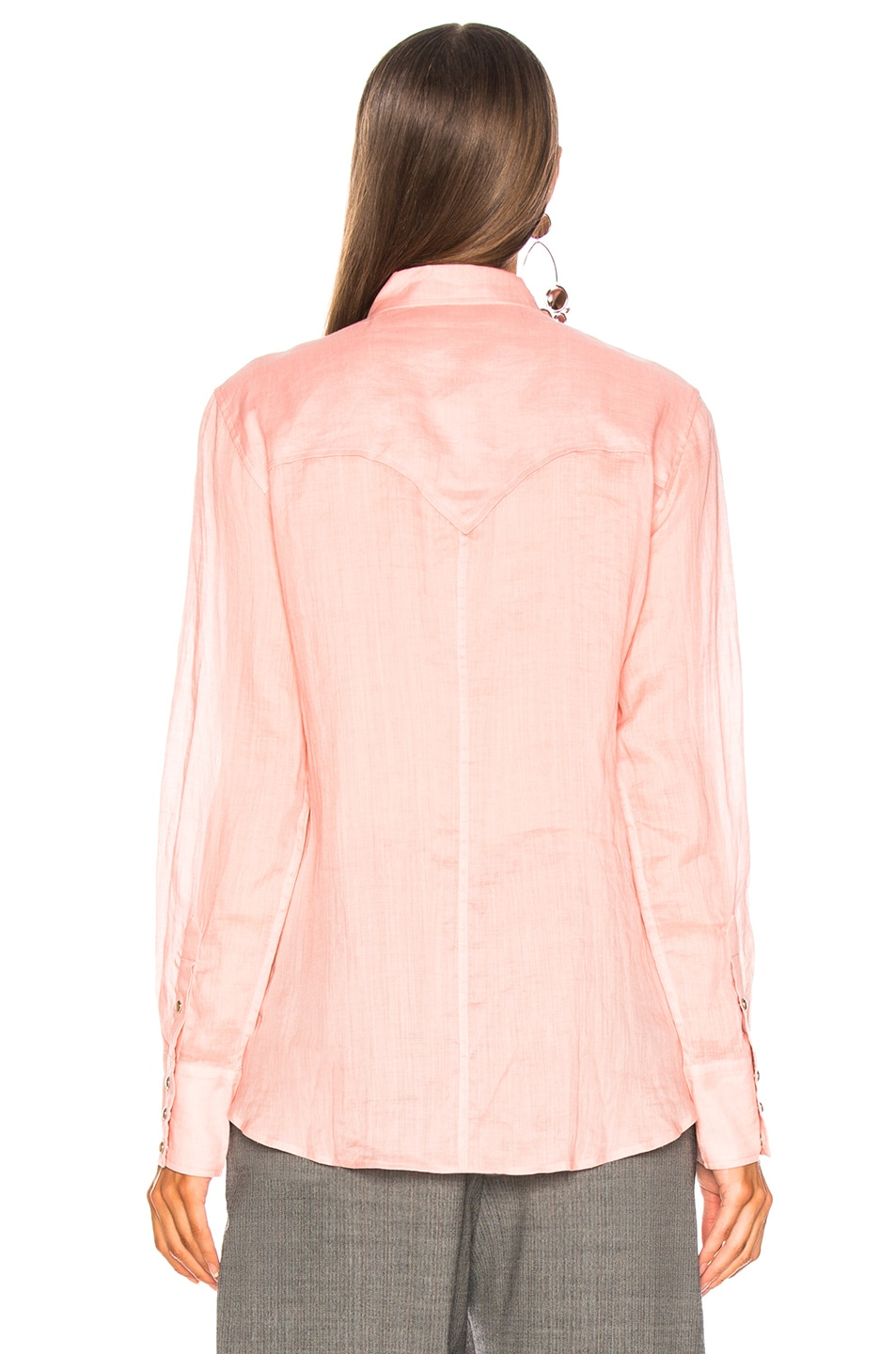 Image 4 of Isabel Marant Naria Shirt in Candy Pink