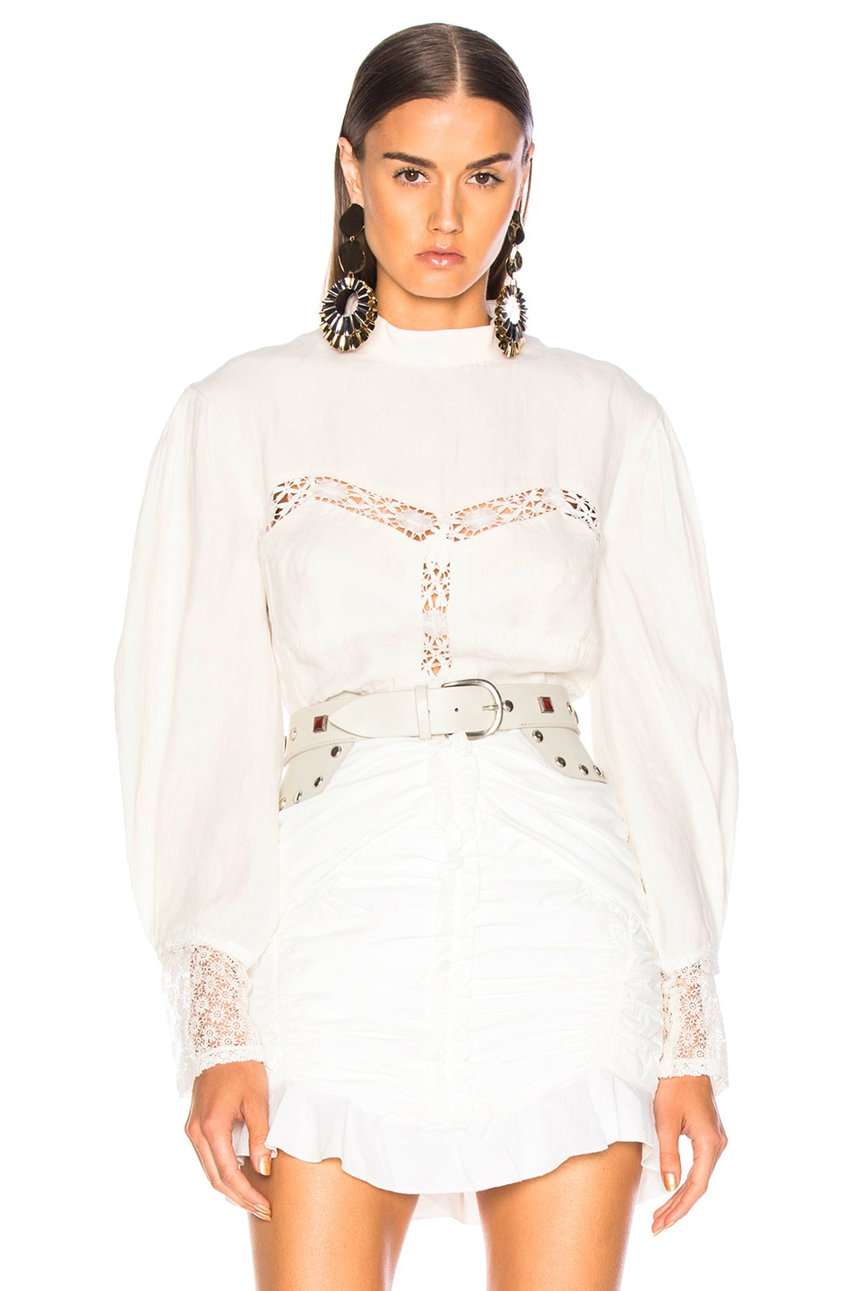 Image 1 of Isabel Marant Lyneth Top in White