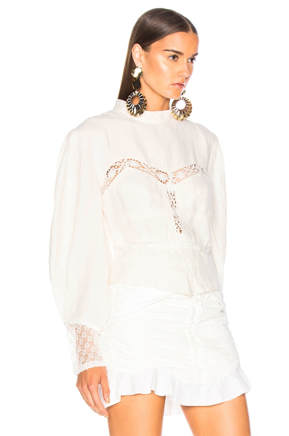 Image 2 of Isabel Marant Lyneth Top in White