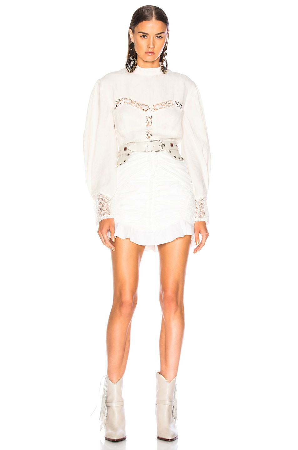 Image 4 of Isabel Marant Lyneth Top in White