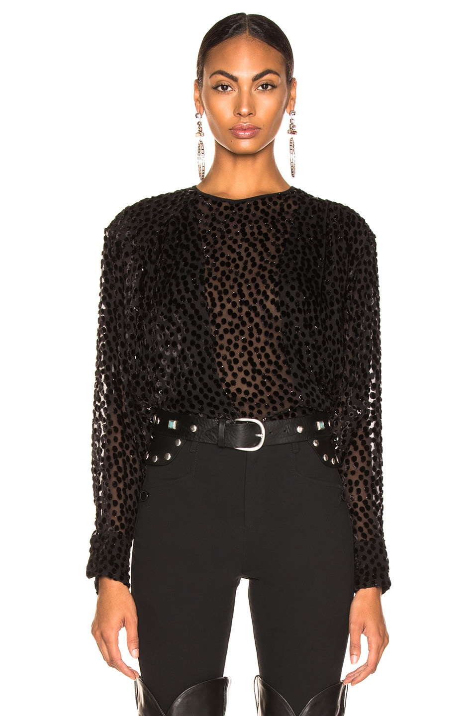 Image 1 of Isabel Marant Midway Top in Black